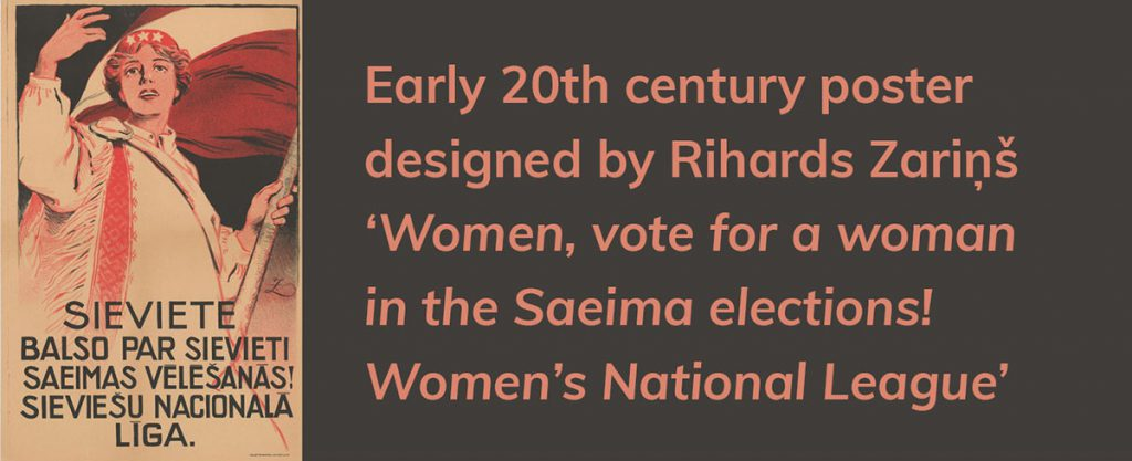 Vote for a woman in the Latvian elections